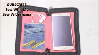 Cell Phone Pouch With OLD JEANS (DIY)
