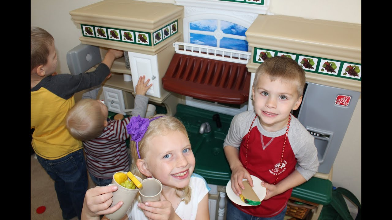 step 2 deluxe kitchen play set - youtube