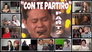 """""""CON TE PARTIRÒ"""" PART 2 REACTORS REACTION COMPILATION/MARCE..."""