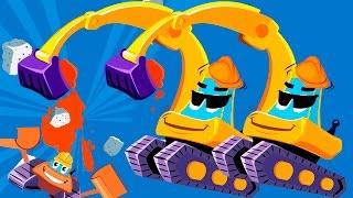 Мультики про машинки для детей - Рабочие машины - Экскаватор Бульдозер. Мультфильм про машинки