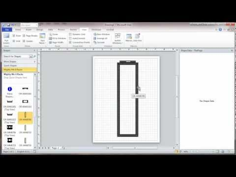 Visio 2010 Network Rack Diagram Tutorial - Part 1 - Stencils And Scale