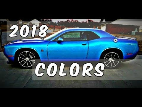 2018 Dodge Challenger B5 Blue And Other Colors Availability