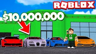 MY OWN LUXURY CAR STORE in ROBLOX!!