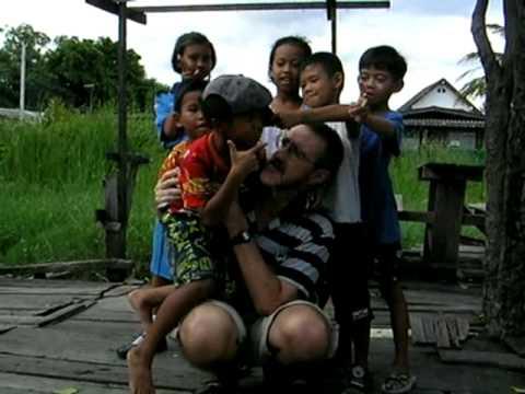 Mucking around with kids in our local slum community