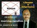 8th House of fear, Occult, Inheritance, mystics & longevity by Dr Dharmesh Mehta