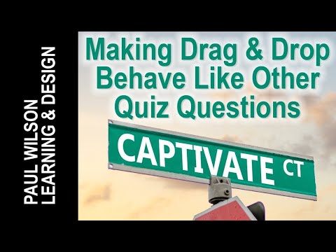 Adobe Captivate - Making Drag and Drop Behave Like Other Quiz Questions