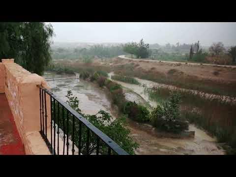 Río segura. Lluvias en Murcia. Alcantarilla