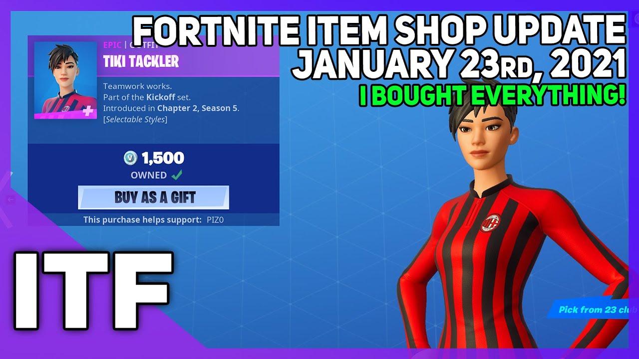Fortnite Item Shop *NEW* I BOUGHT EVERYTHING! [January 23rd, 2021] (Fortnite Battle Royale) - download from YouTube for free