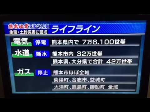 Graphic, Kumamoto, Earthquake information, Japan