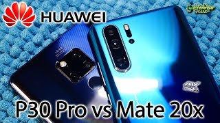 Huawei P30 Pro vs Huawei Mate 20X сравнение камер (4K)