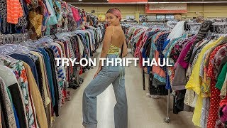 THRIFTING IN TORONTO | try on thrift haul