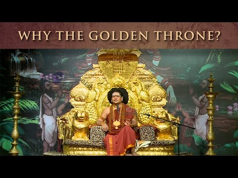 Why Does Nithyananda Sit On A Golden Throne?