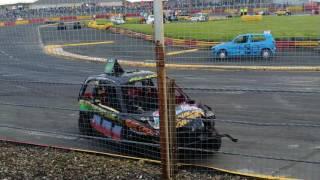 Banger Racing Part 1 at Lochgelly Raceway - HRP 1/10/16