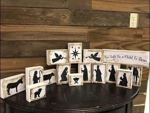 Wooden Nativity Scene Blocks - Christmas DIY