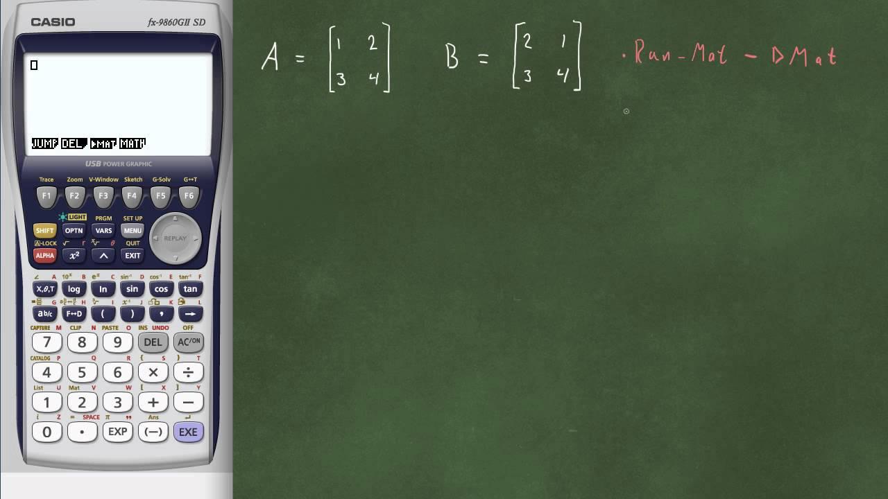 Matriser på kalkulator - Addisjon og multiplikasjon
