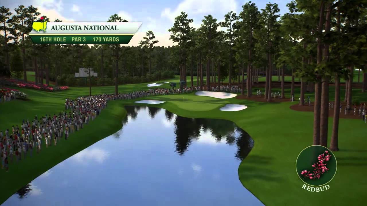 Course flyover augusta national golf club s 16th hole youtube