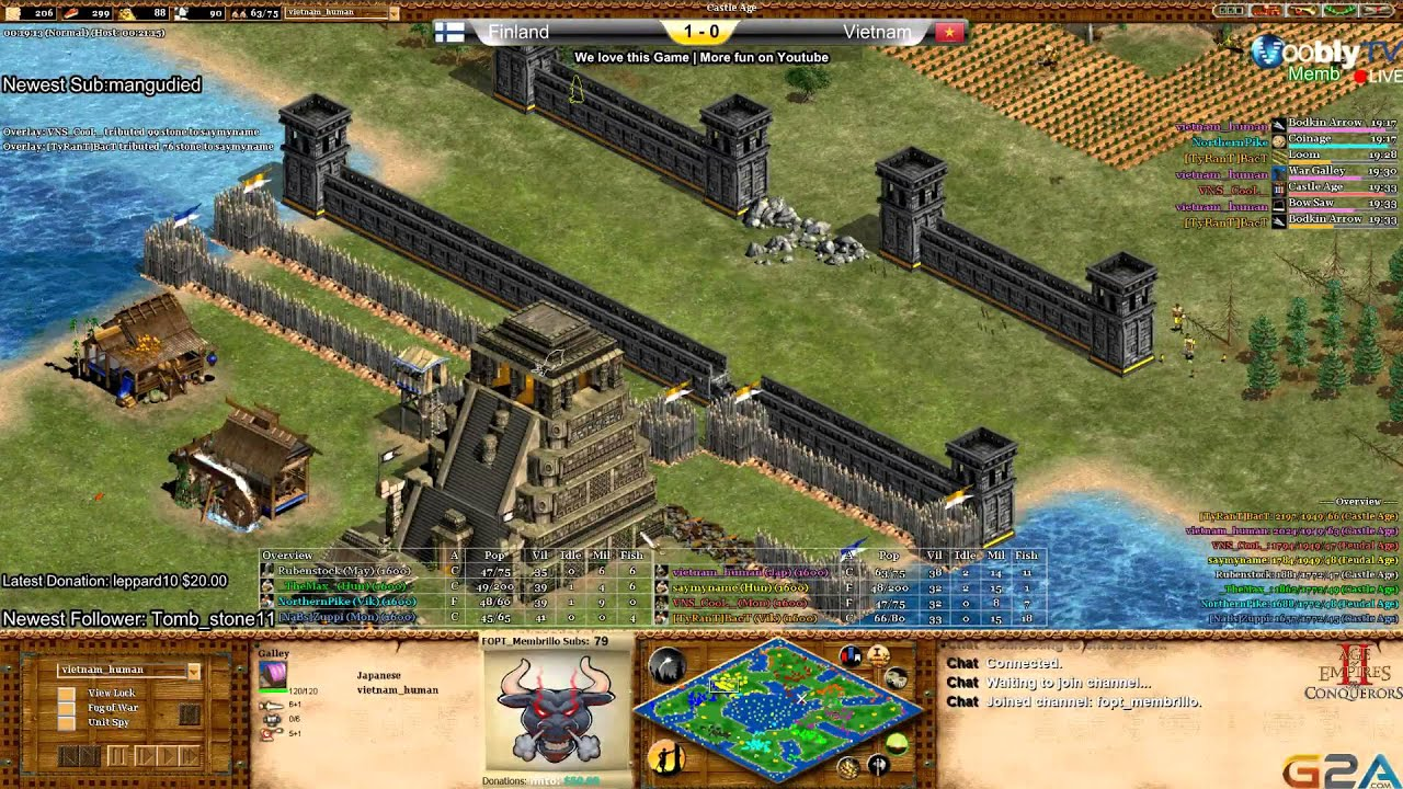 Age of Empires 2 NC II 3rd Match place Finland vs Vietnam Game 2