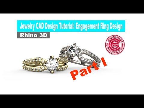 Jewelry CAD Design Tutorial #24: Engagement Ring Design in Rhino 3D