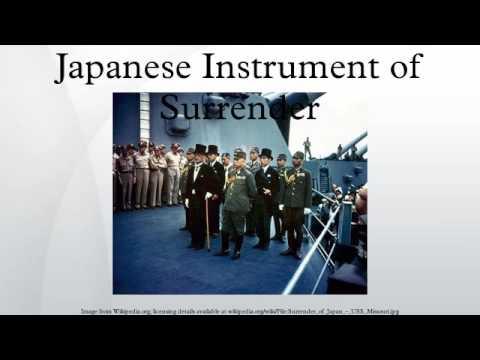 Japanese Instrument of Surrender