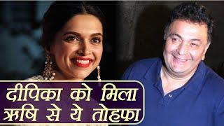 Padmaavat: Deepika Padukone gets BEAUTIFUL GIFT from Rishi Kapoor | FilmiBeat