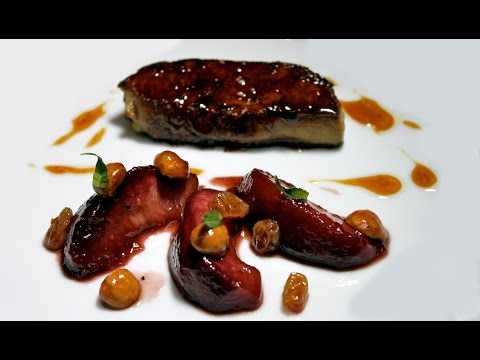 2 Michelin starred chef Olivier Limousin's Foie Gras with Pe