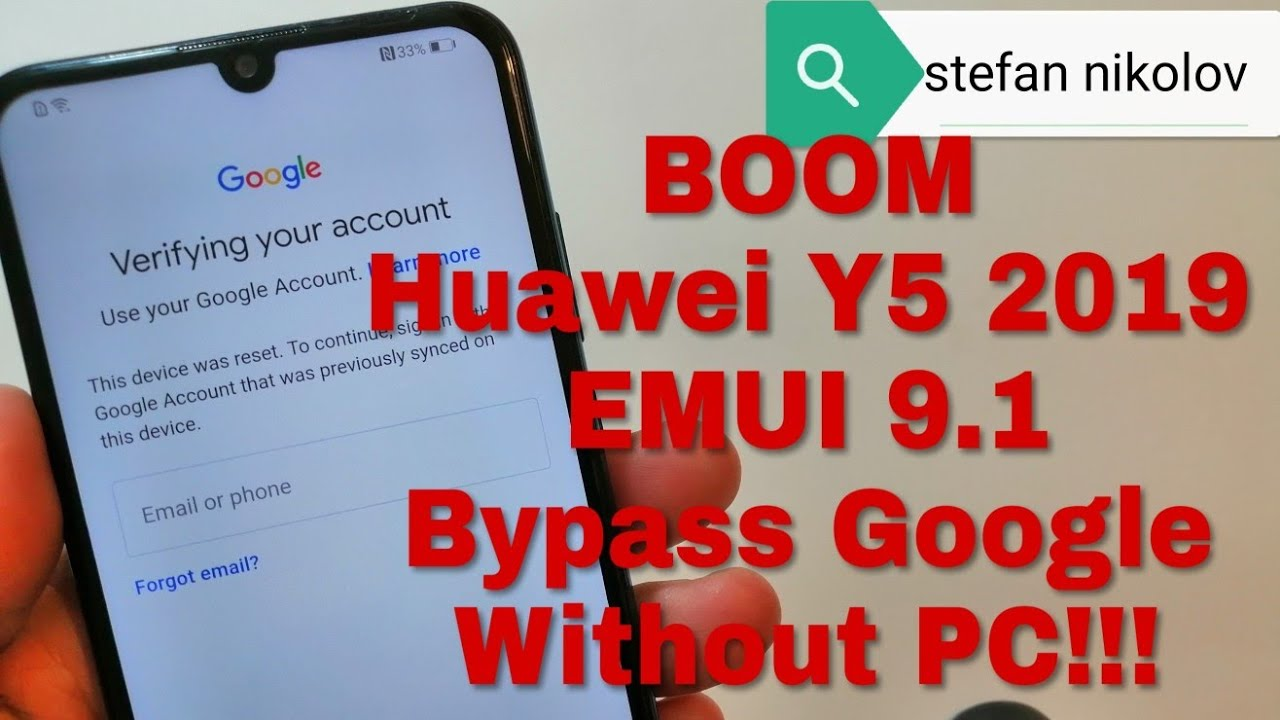 BOOM!!! Huawei Y5 2019 /AMN-LX9/  Remove Google Account,Bypass FRP