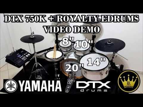Yamaha DTX 750K & ROYALTY EDRUMS (Pads Demo)