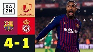 Barca im Pokal souverän gegen Drittligisten: FC Barcelona - Leonesa 4:1 | DAZN | Copa del Rey