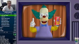 The Simpsons Hit & Run All Story Missions Speedrun 1:29:15
