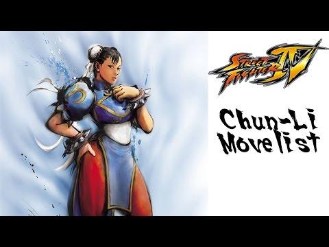 Street Fighter IV - Chun-Li Move List