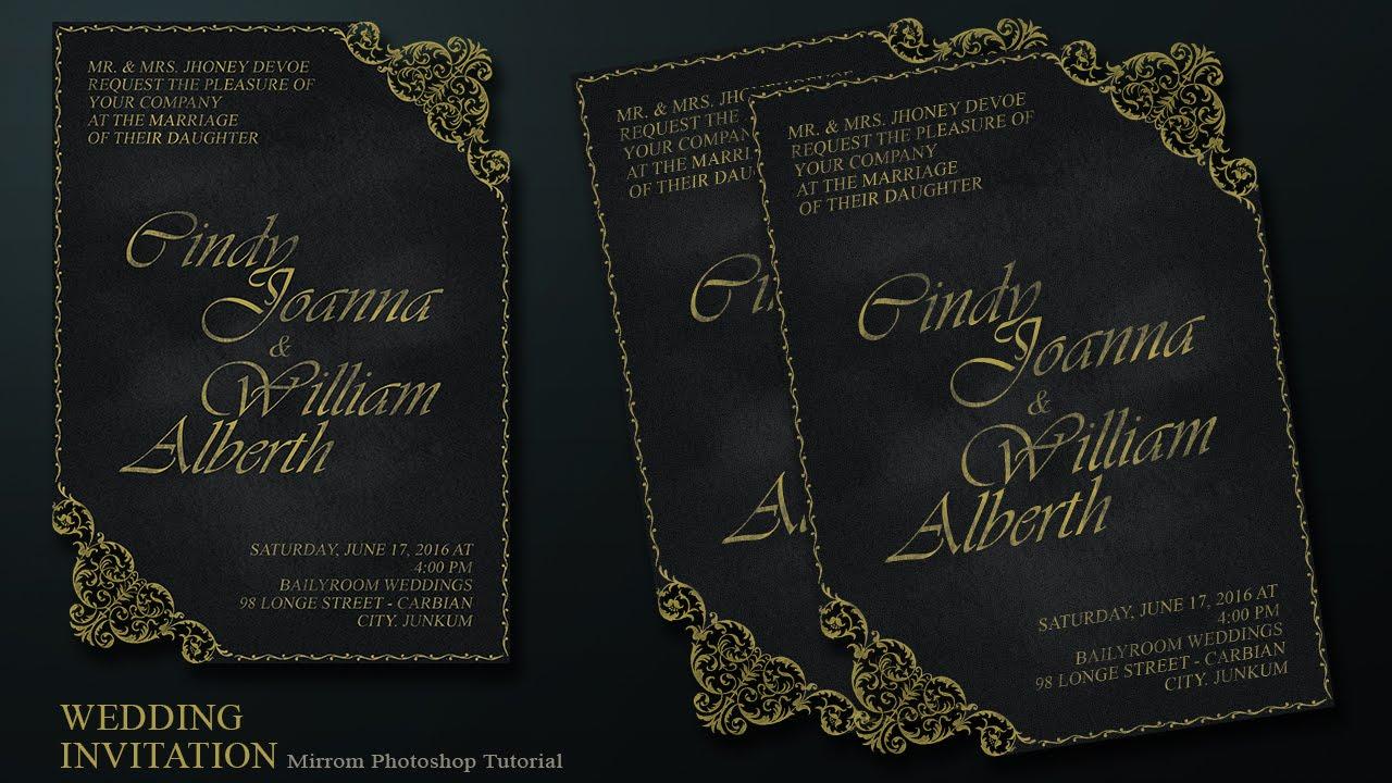 Create a chalkboard and ornament style wedding invitation card in create a chalkboard and ornament style wedding invitation card in photoshop youtube stopboris Gallery