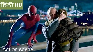 The amazing spider man-2012  Bridge scene Hindi movie clips.