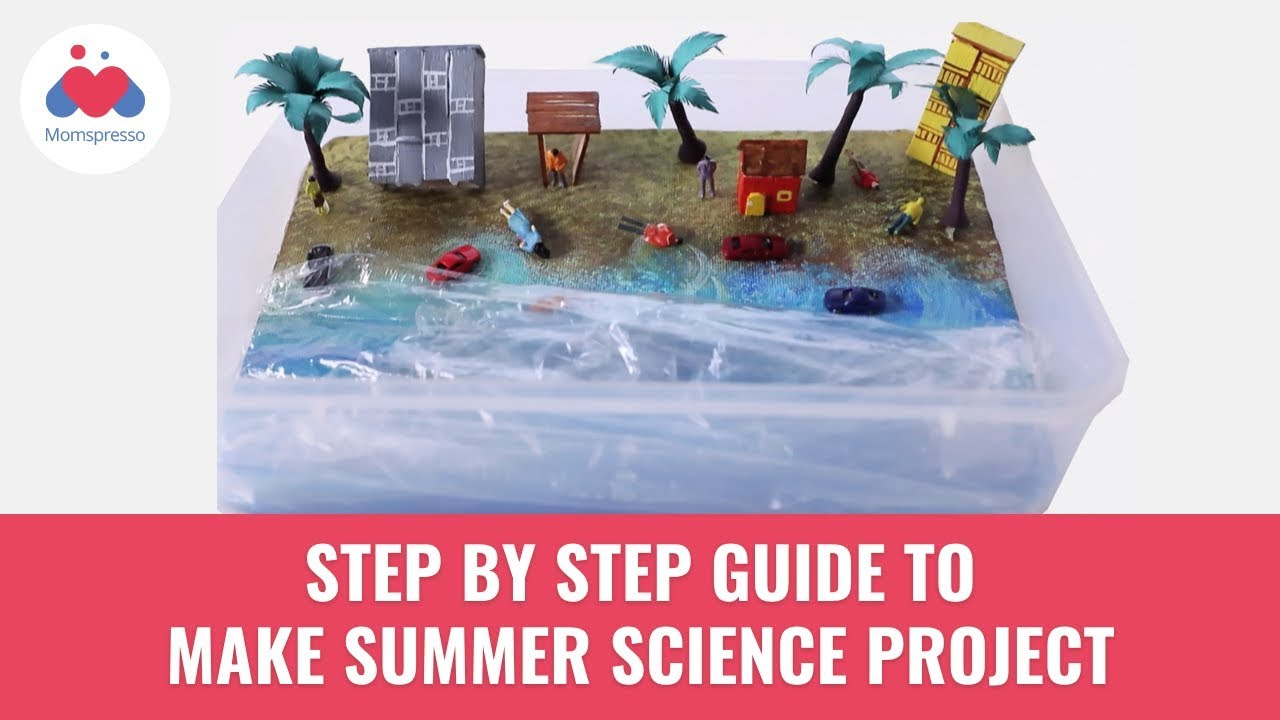 How To Make Summer Science Projects At Home | DIY | Tsunami Model | Momspresso