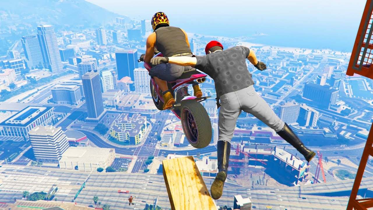 GTA 5 Funny/Crazy Jump Compilation #10 (GTA V Fails Funny Moments)