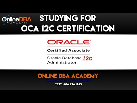 Oracle Certification Training – Oracle 12C OCA Certification Training