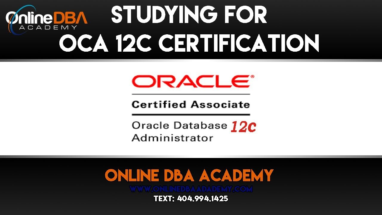 Oracle Certification Training Oracle 12c Oca Certification