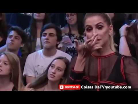 Ana Vilela canta a música Trem Bala e Deborah Secco nao segura as lagrimas Altas Horas 18/