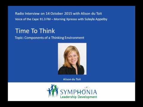 Voice of The Cape Radio Interview: Time To Think with Alison du Toit