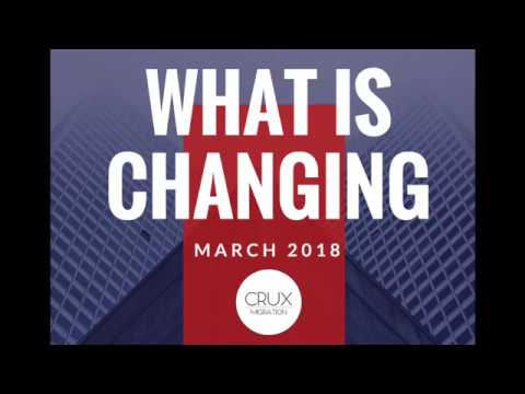 What is changing in March 2018  - Australian Immigration Law