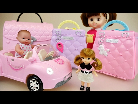 Thumbnail: Little Baby doll house bags pet shop and car toys play