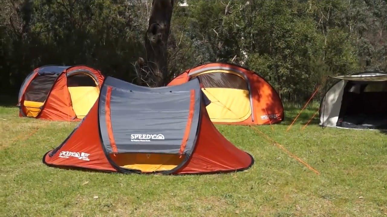 Kiwi C&ing Explore Planet Earth Speedy Tent Range Features & Kiwi Camping Explore Planet Earth Speedy Tent Range Features - YouTube
