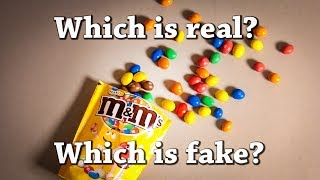 Fun Test: Which is Real? Which is PAINT? with Reeses, Skittles, Oreos, M&Ms and McDonald's