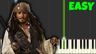 Pirates Of The Caribbean [Easy Piano Tutorial] (Synthesia/Sheet Music)