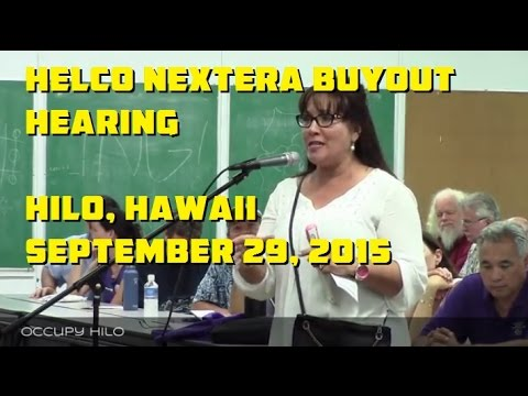 NextEra HELCO PUC hearing in Hilo Sept 29, 2015 part 1