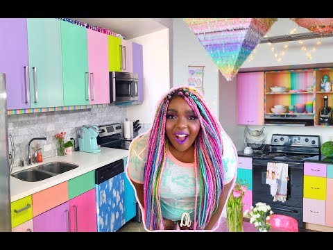 Cute DIY Rainbow Kitchen