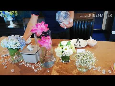 จัดดอกไม้โต๊ะอาหารสวยๆของแขก, vip