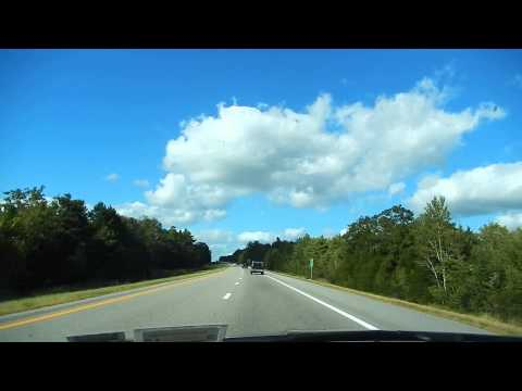 Driving through Maine, USA