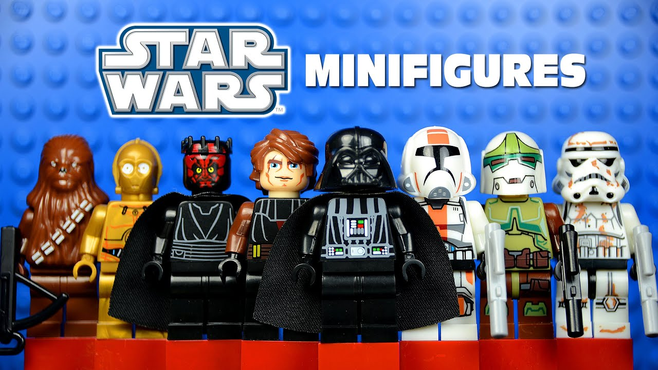 lego star wars: the clone wars knockoff minifigures set 3 w/ darth