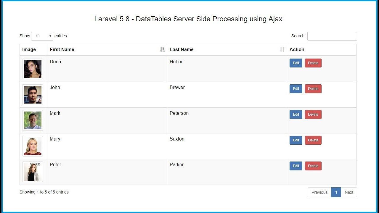 Laravel 5 8 Ajax Crud Tutorial using DataTables | Webslesson