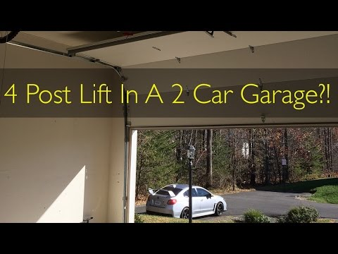4 Post Lift Prep: Installing A High Lift Garage Door!   YouTube